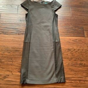 Alice and Olivia gray/leather dress small